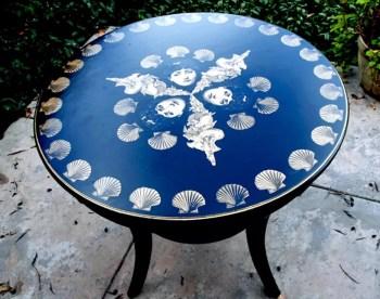 Artistic decoupage table