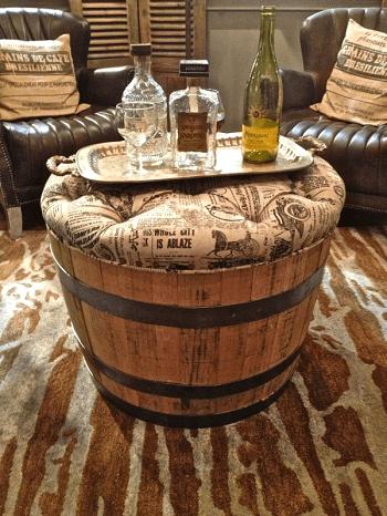 Barrel cushion DIY Compelling Ways To Use Wine Barrels For Decoration