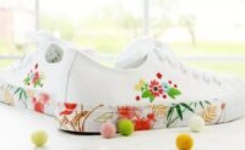 Beautiful shoes with embroidery