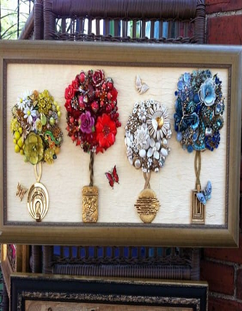 Bejeweled topiary art Shattering Creative Ideas To Repurpose Vintage Jewelry