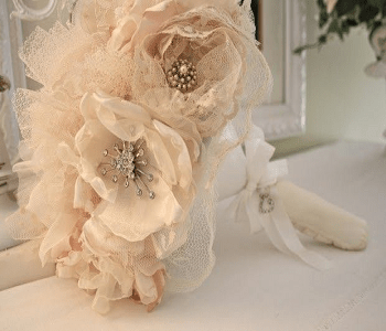 Bouquet of flowers DIY Creative Ideas To Reuse Your Old Wedding Dress