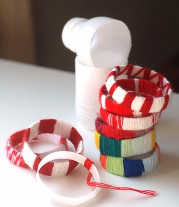 Diy bracelets from empty plastic bottles