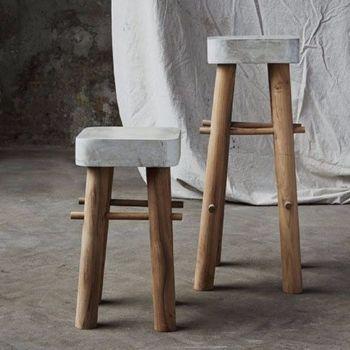 Diy concrete bar stools