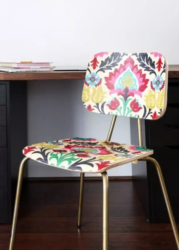 Diy fabric covered chair