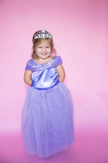 Diy purple princess costume for little girl