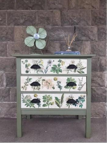 Dresser with botanical beauty