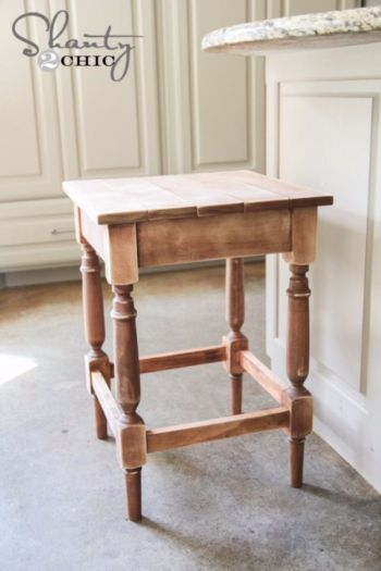 Easy diy stained bar stool