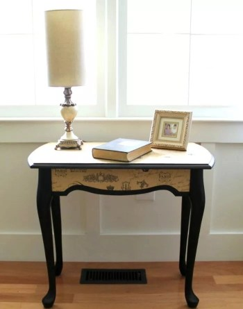 Elegant and classic side table makeover