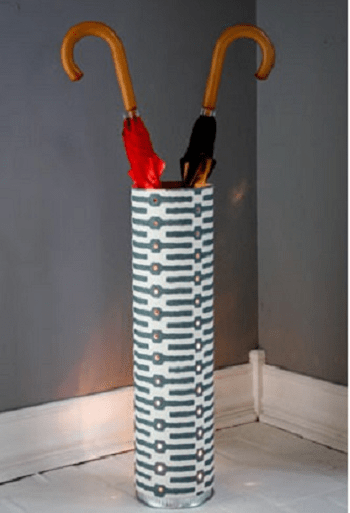 Fun umbrella holder DIY Aesthetic Umbrella Stand Ideas To Create Yourself For Hallway
