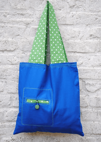 Reusable bag with wide straps DIY Fancy Reusable Grocery Bags Ideas To Show Your High Style