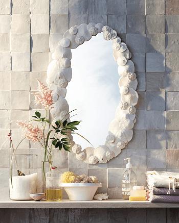 Sand dollar mirror DIY Smashing Wall Art Ideas As Your Homemade Bathroom Project