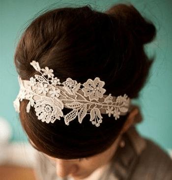 Wedding dress headband DIY Creative Ideas To Reuse Your Old Wedding Dress