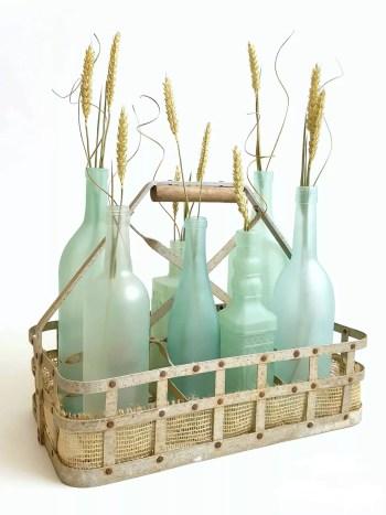 Wine bottles into sea glass