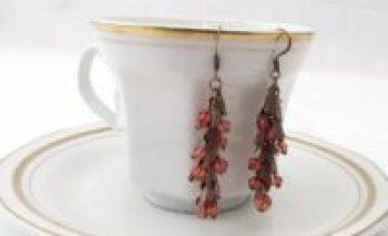 Diy fall leaves copper earrings