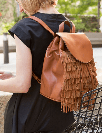 Fringe backpack Ridiculous Easy DIY To Transform Last Year's Clothes Into Fall's Hottest Trends