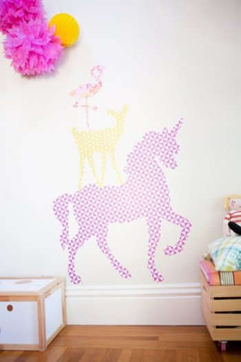 Removable animal wall decals