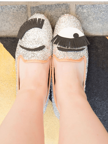 Sparkly wink loafers Ridiculous Easy DIY To Transform Last Year's Clothes Into Fall's Hottest Trends