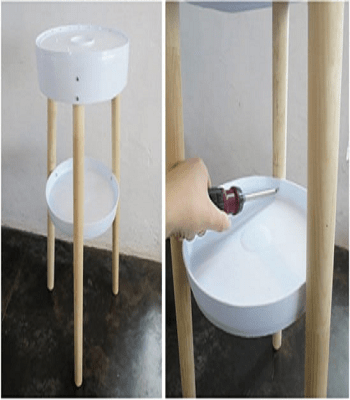 Upcycled bucket side table Speechless DIY Ideas For Repurposing Five Gallon Buckets