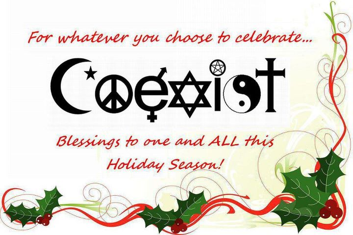 Image result for happy holidays coexist