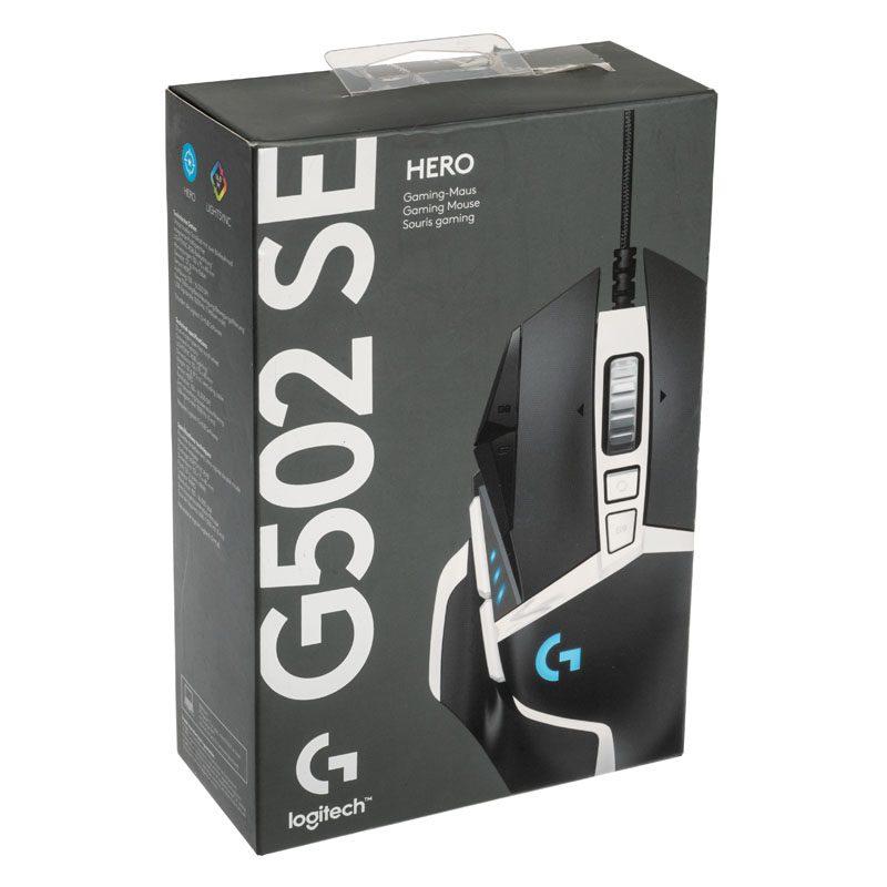 logitech g502 se hero gaming mouse nero bianco