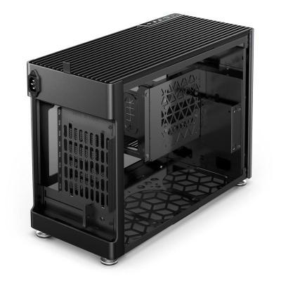 jonsplus i100 pro mini itx case vetro temperato nero