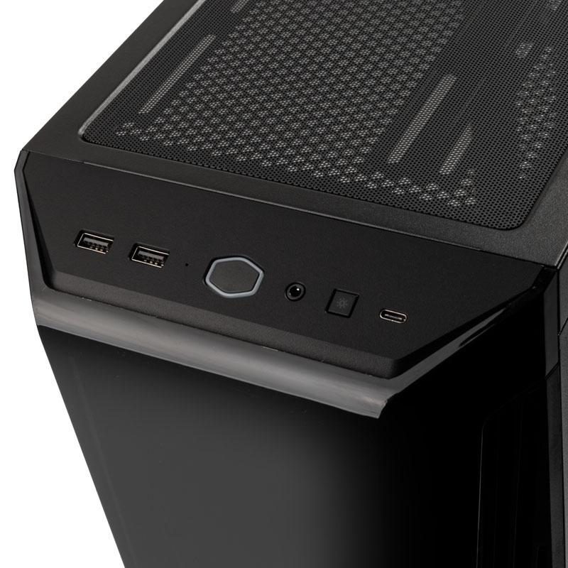 coolermaster masterbox 540 midi tower argb vetro temperato nero
