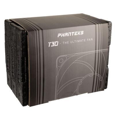 phanteks t30 pwm 120mm ventole 3x pack nere