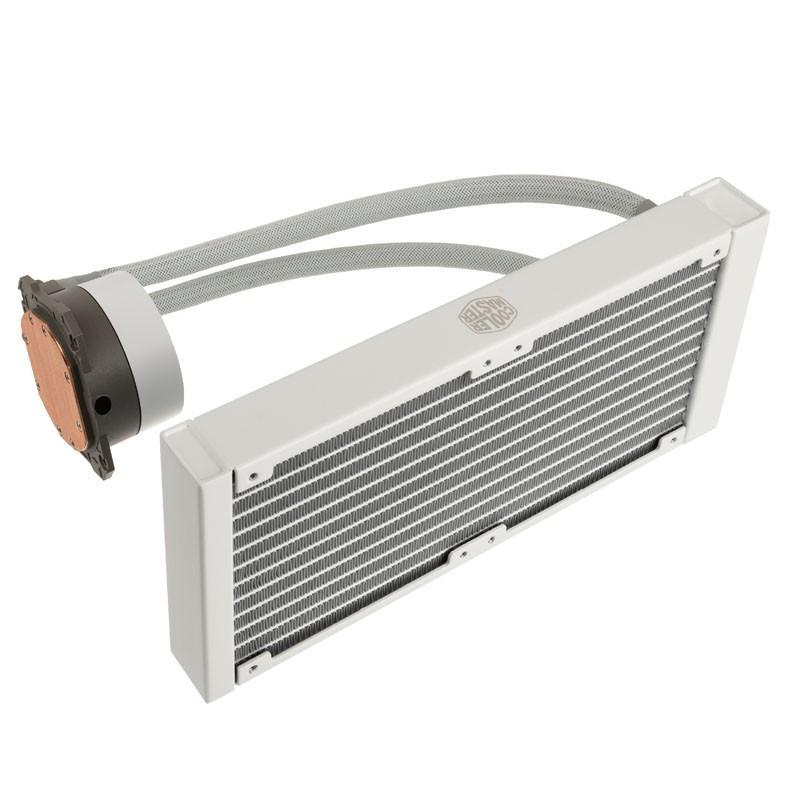 cooler master ml240l v2 rgb white edition raffreddamento ad acqua 240mm