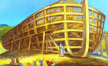 Noah Building Ark - Free Bible Images