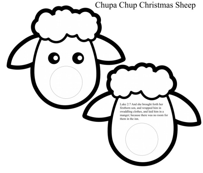 Christmas Sheep Craft Luke 2 verse 7