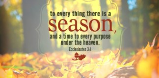 Ecclesiates 3:1 To every [thing there is] a season, and a time to every purpose under the heaven: