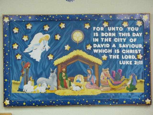 christmas bulletin board 1 based on luke 211 - Christmas Bulletin Board Decorations
