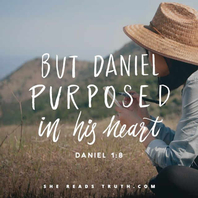 Daniel 1:8 But Daniel purposed in his heart that he would not defile himself with the portion of the king's meat, nor with the wine which he drank: therefore he requested of the prince of the eunuchs that he might not defile himself