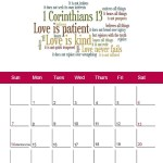 Free Calendar February 2016 Godly Ladies