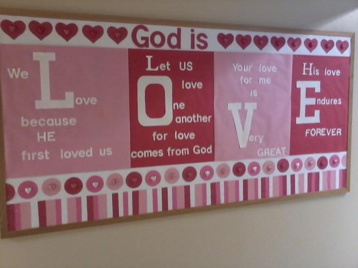 God is Love Bulletin Board