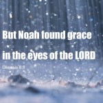 Genesis 6:8 But Noah found grace in the eyes of the LORD