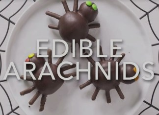 Edible Chocolate Spiders