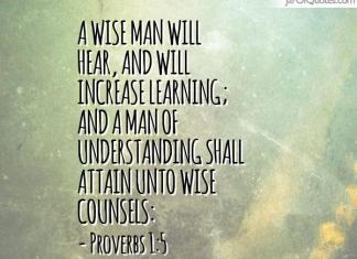 Proverbs 1:5 KJV
