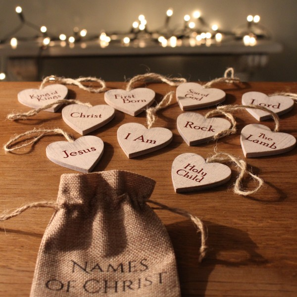 The Names of Christ - DIY Christmas Tree Ornaments - Godly Ladies