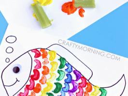 Celery Stamp Rainbow Fish
