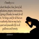 1 Timothy 2:1-2 KJV