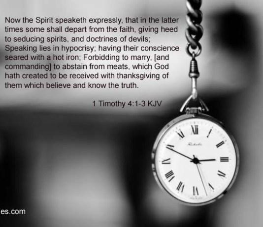 1 Timothy 4 1-3 KJV