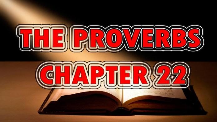 Proverbs 22