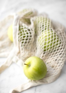 What is your defence that you lean on? Do you focus on your own strength or others? The Godly Woman's last defence... green apple in a net depicting lies of the devil that traps us.