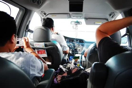 Family in Minivan