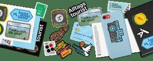 Sticker, Alltagstourist, godnews