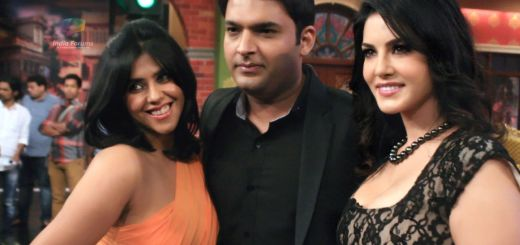 Kapil sharma with Ekta kapoor and Sunny Leone