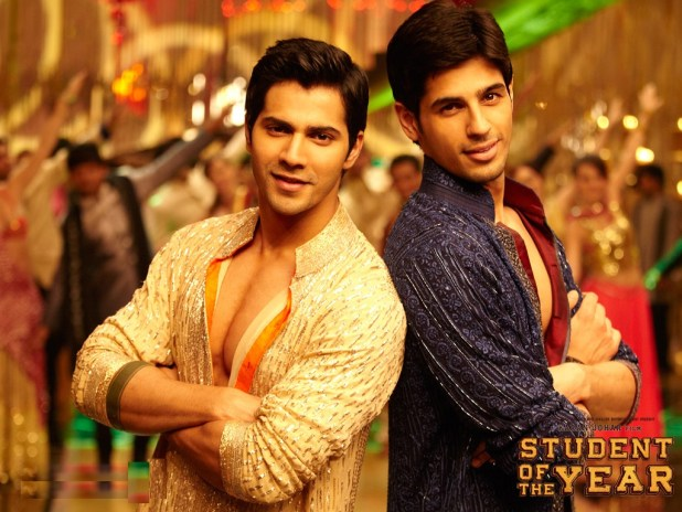 Varun Dhawan with Sidharth Malhotra in Student of the Year
