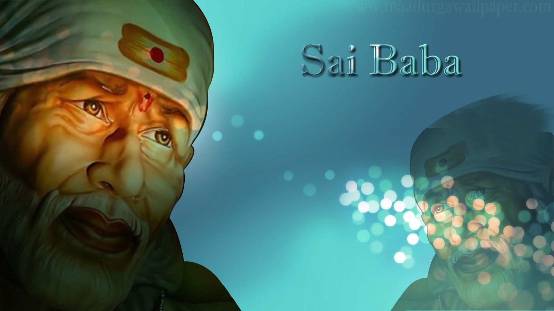 Sai baba 3d hd desktop wallpaper