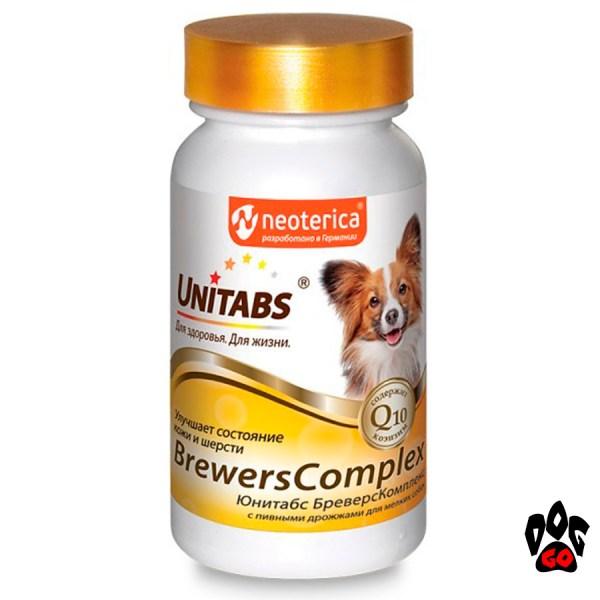 Витамины Юнитабс для собак с пивными дрожжами Браверс Комплекс (д/мелких пород) 100 таб.